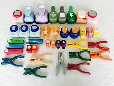 HUGE Lot 28 Paper Shapers Punch & 9 Hand Punches Scrapbook EXCELLENT