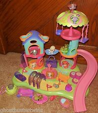 LITTLEST PET SHOP WHIRL AROUND SLIDE SWING PLAYGROUND PARK LPS PLAY SET LOT