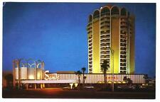 SANDS casino~1960's Veiw of the casino at night~Las Vegas NV hotel post card#c22