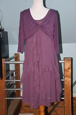 Pyramid Collection Laurie Cabot Wiccan Pagan Purple Tiered Hem Dress XL