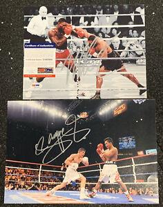 (2) MIKE TYSON Signed PSA 8x10 Photo + MANNY PACQUIAO Signed Photo