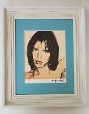 ANDY WARHOL ORIGINAL 1984 SIGNED MICK JAGGER PRINT MATTED TO BE FRAMED AT 11X14