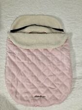 Eddie Bauer Baby Bundle Blanket Car Seat or Stroller Cover Sherpa Lined Pink