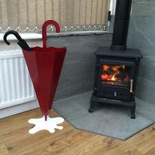 Made O' Metal Unique Steel Brolly Holder Modern Art Indoor Red Umbrella Stand