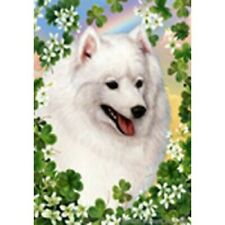 Clover House Flag - Japanese Spitz 31401
