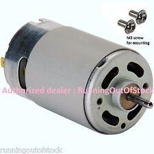 RS 555 12Volt 1Amp 6000rpm High Torque 12v Motor for DIY PCB Drilling Solar Fan