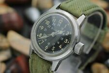 Vintage BULOVA MIL-W-3818A Cal.10BNCH Stainless Steel Military Watch w/ Hack