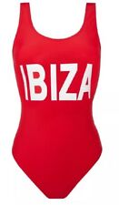 DESIGNER SIZE 10 HEN HOLIDAY PARTY BAYWATCH RED IBIZA SWIMSUIT SWIMMING COSTUME