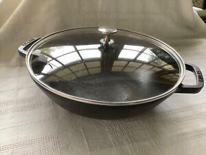 Staub Cast Iron Wok 30cm with lid