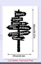 """Harry Potter Wall Decal Hogwarts Road Sign Vinyl Sticker Home Decor, Large 35"""""""