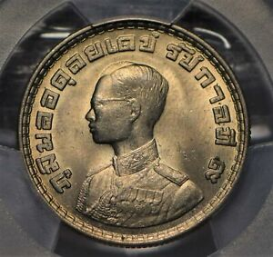 Thailand 1962 BE2505 Baht Elephant animal PCGS MS65 A055-02 Y-84 PC0776 combine
