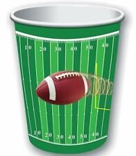 Football Sports Super Bowl Watch College Theme Party 9 oz. Paper Cups