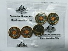 2018 $2 coloured coin  ANZAC Eternal Flame RAM bag of 5 UNC