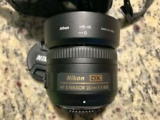 Nikon Nikkor AF-S 35mm F1.8 G DX ASPH Lens 35/1.8 AFS Great Condition
