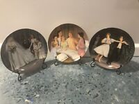 Set Of 3 Collector Plates Sound Of Music, Edwin M Knowles (3, 4, 7) with Stands!