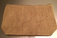 10 x Large Jute Hessian Make Up Bags  - Multi Listing - Lined