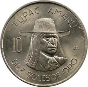 PERU - 10 SOLES DE ORO - 1974 - TUPAC AMARU