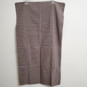 """Restoration Hardware King Sham Cotton Striped Zip USA 19""""x36"""""""