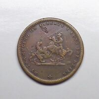 "1837 Great Britain - William IV Satirical Token, ""By Trampling on Liberty""."