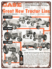1957 Dealer Case Farm Tractor Ad Baked Metal Repro Sign 9x12 60173
