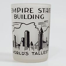 Empire State Building Frosted Souvenir Shot Glass
