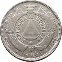 HONDURAS PESO 1892 / 0 DOUBLE STRUCK 8 #t89 345