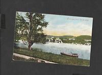 Valentine's Vintage Colour Postcard  Bowness Cumbria from Belle Isle Posted 1905