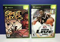 Lot of 2 Games for MicroSoft Original XBOX Street Hoops & NBA Live 2002 Complete