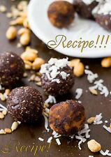 "☆Delicious Pick Me Up☆Peanut Butter Triple Chocolate Energy Bites ""RECIPE☆"