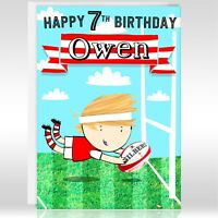 RUGBY BIRTHDAY GREETINGS CARD - Personalise, Age, Son, Brother, Nephew, Grandson