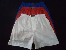 3 Pairs Thai Silk Boxer Shorts Red - White - Blue Underwear Sleep Wear XL