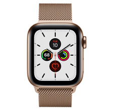 Apple Watch Series 5 40mm Case with Milanese Loop - Gold-Tone Stainless Steel