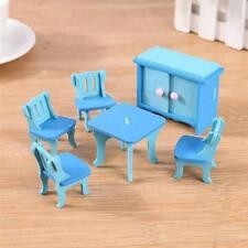 Dollhouse Miniature Dining Room Wooden Furniture Set Kids Role Pretend Play ULP