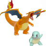 "Pokemon Fire & Water Battle Pack 4.5"" Flame Action Charizard & 2 Squirtle Figure"