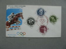JAPAN, cover FDC 1963, Olympic Games, ao cycle-racing bicycle hockey shooting