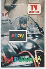 SCARCE VTG 1966 BATMAN CLEVELAND OHIO TV SHOWTIME GUIDE ADAM HONEY WEST ON COVER