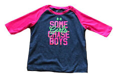 Under Armour 24m Baby Girls Gray, Pink & Green Girl Power Graphic Tee