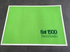 CATALOGUE FIAT 1500 FAMILIALE   en francais  I2