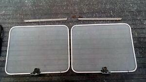 75-95 Chevy Full Size Van G10 G20 G30 Rear Door Windows Pop out PPG glass pair