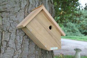 Side View Bird Box | Wooden Garden Wall Hanging Wild Multi Species Nest UK Made
