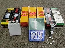 ASSORTED GOLF ITEMS TO IMPROVE YOUR GAME-BALLS-TEES-RULES OF GOLF-OPENER etc.