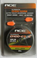 Ace Elements Hard-On Camo Lead / Chod Core Weedy Green 45lb x 20m - Free P&P