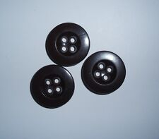 Original WW2 German brown button, size 17-18 mm