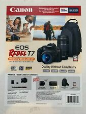 Canon Rebel T7 Premium 2 zoom lens kit