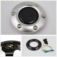 New Silver Plastic&Real Carbon Fiber Racing Car Steering Wheel Horn Button Cover