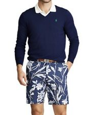 NWT RALPH LAUREN POLO GOLF Men's Navy Blue Floral Stretch Golf Shorts Sz 30