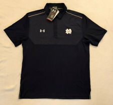 Under Armour Notre Dame Fighting Irish Golf Polo Shirt Loose Heat Gear Large