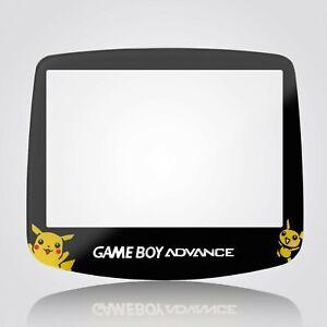 Game Boy Advance IPS Screen Lens Pokemon Glass Tempered Black Nintendo GBA