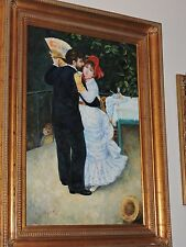 Antique-style Painting of Couple Dancing Oil On Canvas