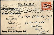 South Africa 1932 Airmail Aeroplane Imperial Airways First Air Post to England